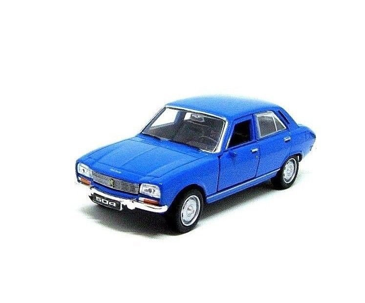PEUGEOT 504 YEAR 1975 BLUE WELLY 1:38  DIECAST CAR COLLECTOR'S MODEL, NEW
