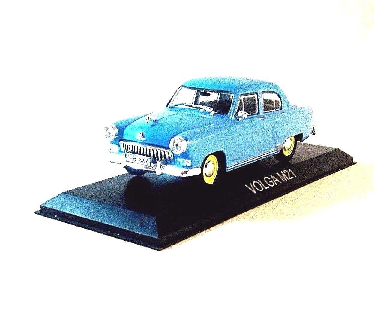 VOLGA M21, ALTAYA 1/43 LIGHT BLUE DIECAST CAR COLLECTOR'S MODEL, NEW
