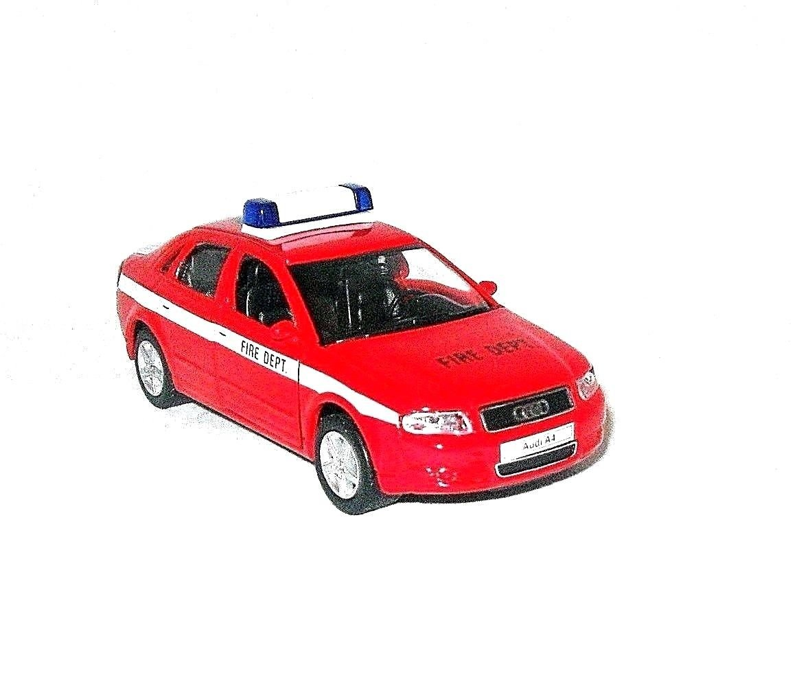 AUDI A4 FIRE DEPT.CAR,WELLY 1/38 DIECAST CAR COLLECTOR'S MODEL,AUDI COLLECTION