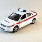 AUDI A4 RESCUE CAR ,WELLY 1/38 DIECAST CAR COLLECTOR'S MODEL AUDI COLLECTION
