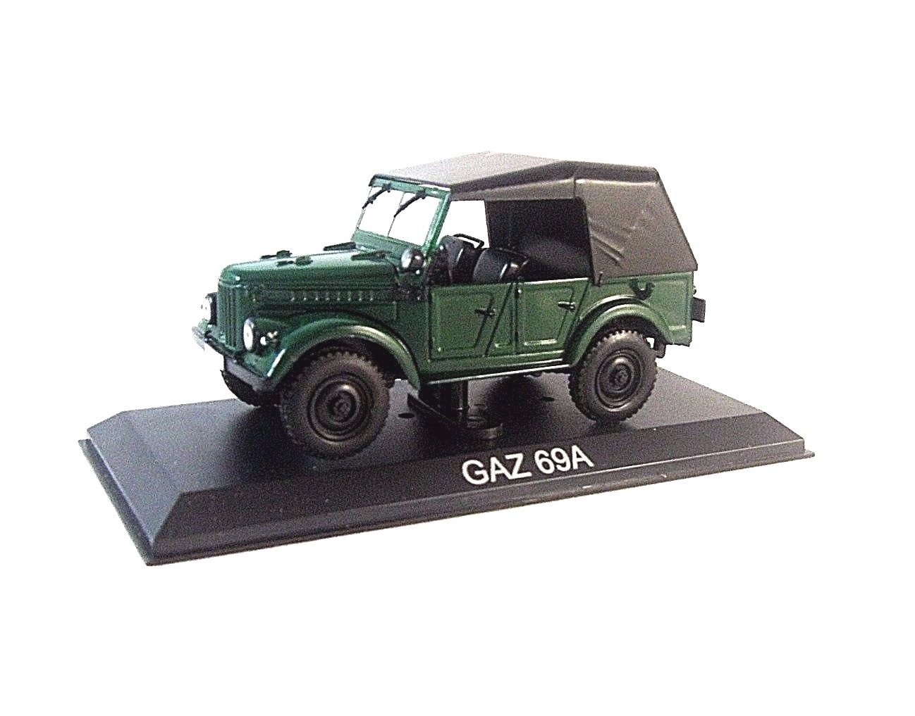 GAZ-69A CABRIOLET CLOSED 1953, GREEN EDICOLA 1/43 DIECAST CAR COLLECTOR'S MODEL