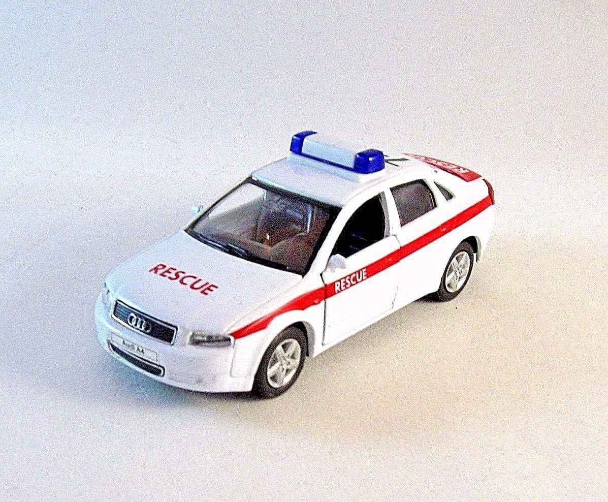 AUDI A4 RESCUE CAR WELLY 1/38 DIECAST CAR COLLECTOR'S MODEL, AUDI COLLECTION