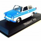 TRABANT P50 BERLINE 1958, BLUE/WHITE EDICOLA 1/43 DIECAST CAR COLLECTOR'S MODEL