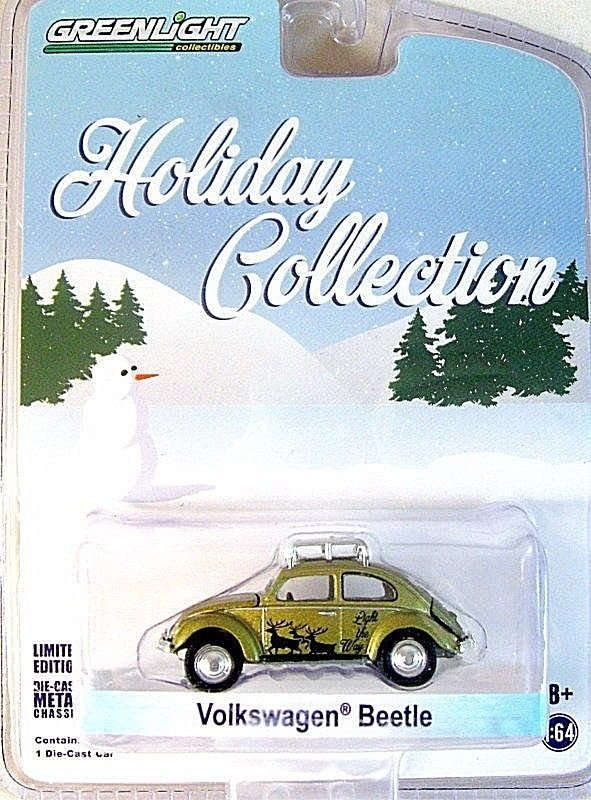 VOLKSWAGEN VW BEETLE LIMITED EDITION GOLD GREENLIGHT 1/64 DIECAST CAR MODEL,NEW