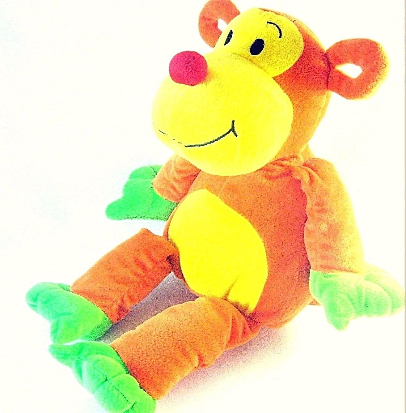 "17"" BIG ,COLORFUL SOFT STUFFED MONKEY - PLUSH DOLL, HIGH QUALITY, RARE"