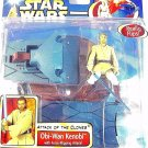 STAR WARS - ATTACK OF THE CLONES DELUXE OBI-WAN KENOBI+FORCE-FLIPPING ATTACK,NEW
