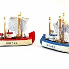 2 * DECOR WOOD FISHING BOATS, HANDBUILT NAUTICAL MODEL, DECOR HOME COLLECTIBLE