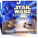 STAR WARS EPISODE 1 ,POD RACING PACK 4,POD RACER,MICRO MACHINES,COLLECTIBLE, NEW