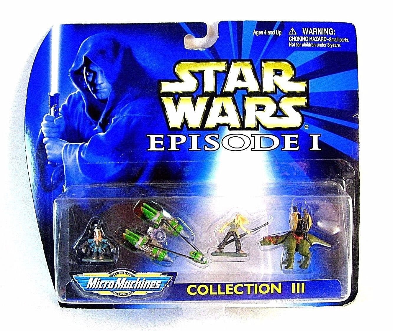 STAR WARS EPISODE 1 MICROMACHINES COLLECTION 3, INCLUDING FIGURES + VEHICLE, NEW