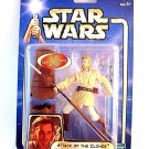 STAR WARS AOTC CARDED OBI-WAN KENOBI,ACKLAY BATTLE WITH SPEAR STABBING ACTION