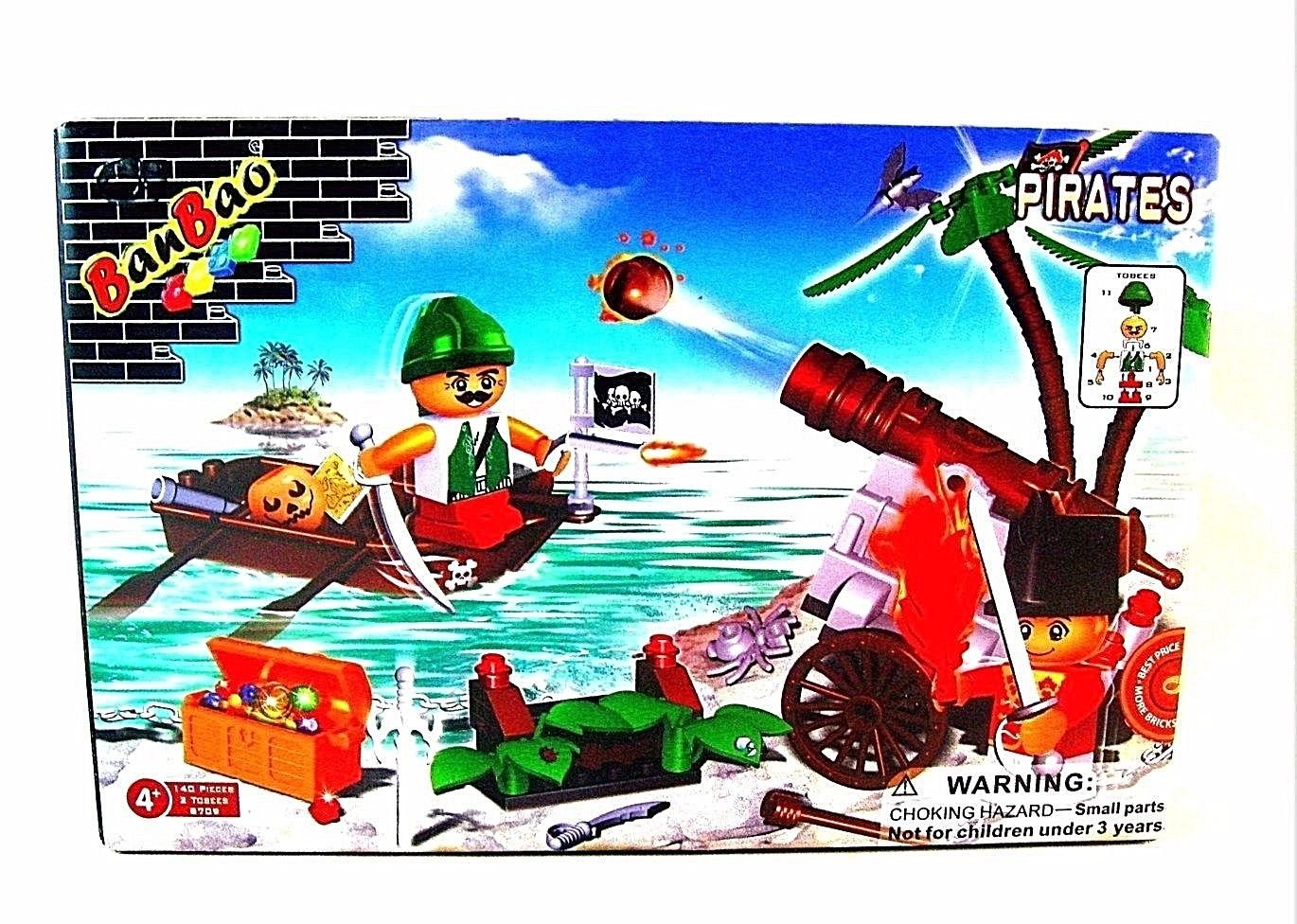 BAN BAO ,CLASSIC BUILDING BLOCKS-PIRATES ISLAND EDITION HIGH QUALITY,140 PIECES