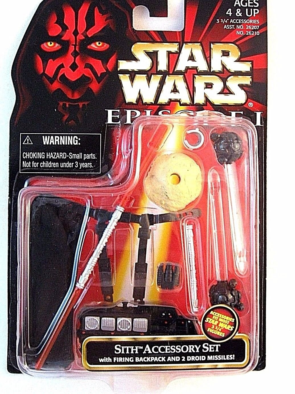 STAR WARS ACCESSORY SET CARDED SITH WITH FIRING BACKPACK AND 2 DROID MISSILES