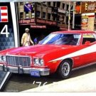 FORD TORINO YEAR 1976 RED REVELL-KIT 1:25 LEVEL 4 COLLECTOR'S MODEL, NEW