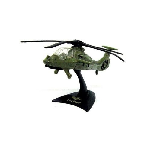 F22 RAPTOR US ARMY MILITARY GREEN HELICOPTER, MAISTO SCALE 1:120