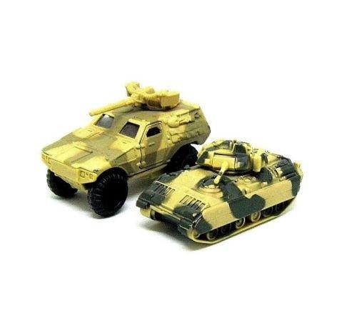 ARMY EDITION, SET *2 ARMY BROWN MAISTO DIECAST VEHICLES (CAR+TANK)
