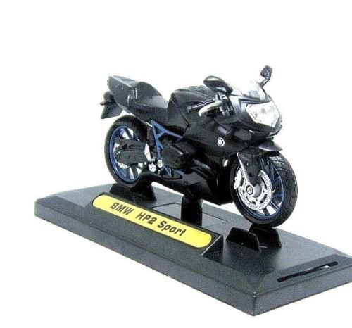 BMW HP2 SPORT, BLACK MOTORMAX 1:18 DIECAST MOTORCYCLE COLLECTOR'S MODEL ,NEW