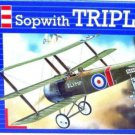 SOPWITH TRIPLANE GREEN REVELL-KIT 1:72, SKILL 3 AIRCRAFT COLLECTOR'S MODEL, NEW