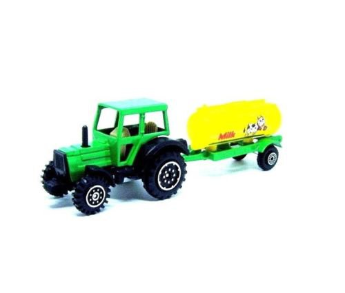 FARM TRACTOR WITH MILK TANKER WAGON, GREEN WELLY TRACTOR COLLECTOR'S MODEL, NEW