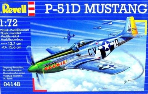 P-51D MUSTANG REVELL-KIT 1:72, SKILL 3 AIRCRAFT COLLECTOR'S MODEL, NEW
