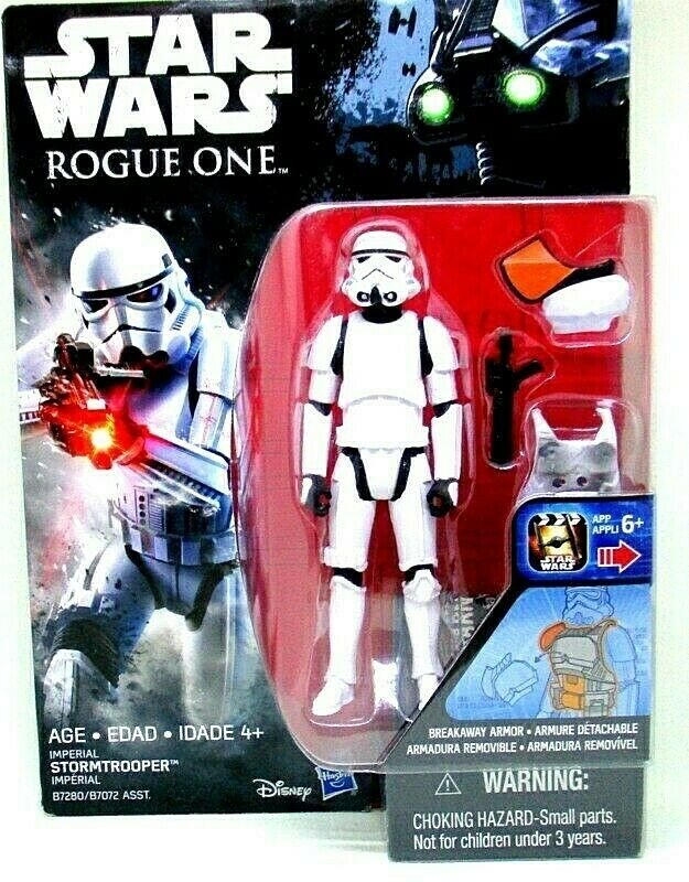 STAR WARS, IMPERIAL STORMTROOPER, ROGUE ONE WITH ACCESSORIES, HASBRO, NEW
