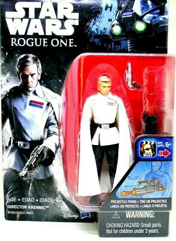 STAR WARS, DIRECTOR KRENNIC,ROGUE ONE WITH ACCESSORIES,PROJECTILE FIRING, HASBRO