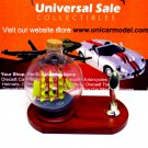 LITTLE SAILING BOAT IN A GLASS BALL ON WOOD PEN STAND,WOODEN NAUTICAL MODEL