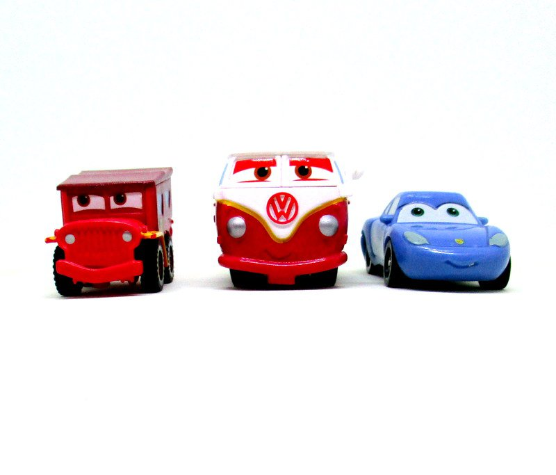 Set*3 Car Models, Disney Pixar, Cars-Movie Car Model , Rare