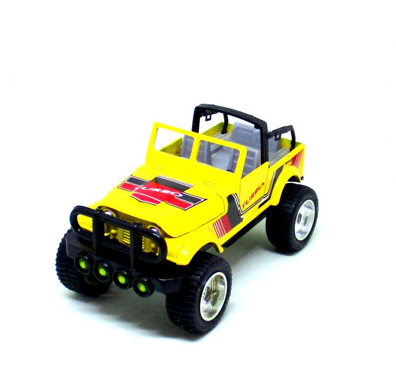 JEEP RENEGADE TURBO OPEN, YELLOW TOY STATE SCALE 1:32