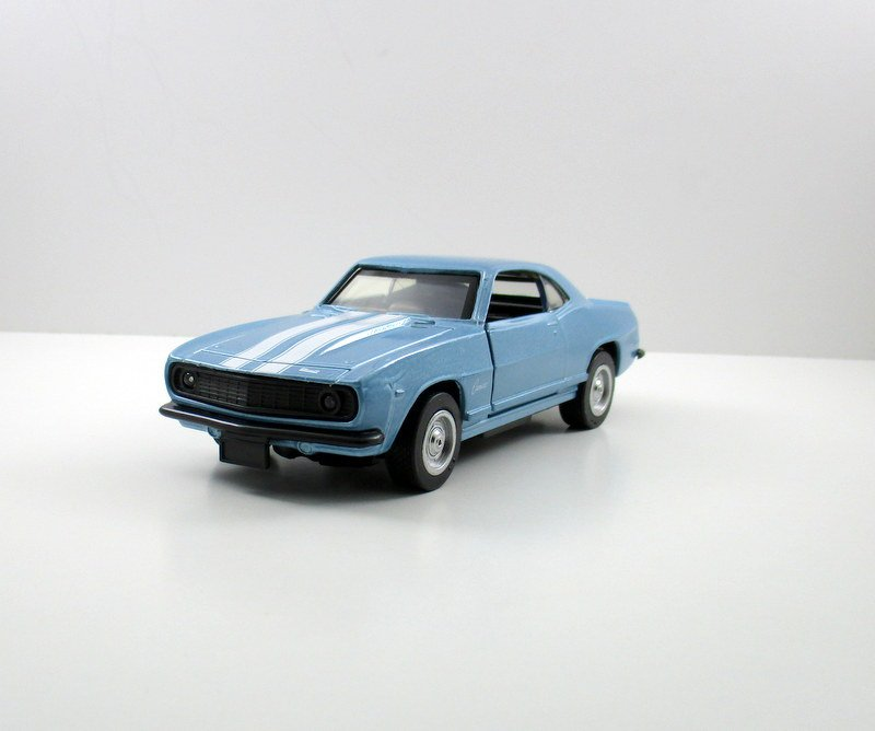 CHEVROLET CAMARO Z28 LIGHT BLUE, NEWRAY SCALE 1:32 DIECAST CAR MODEL