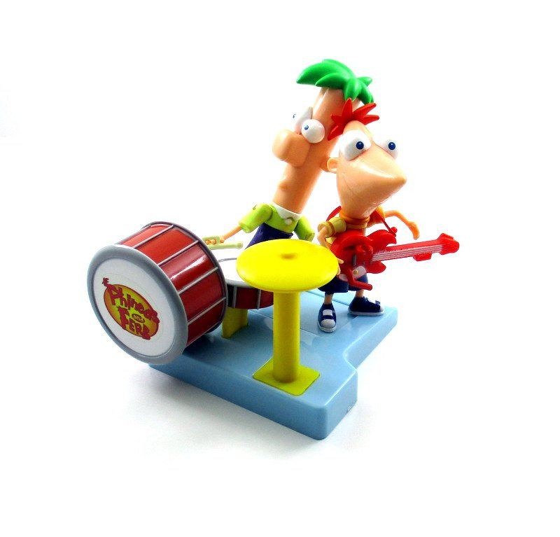 PHINEAS AND FERB BAND + DRUM SET AND GUITAR, DISNEY