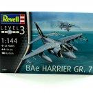 AIRCRAFT, BAe HARRIER GR.7 FIGHTER BOMBER REVELL-KIT SCALE 1:144 LEVEL 3