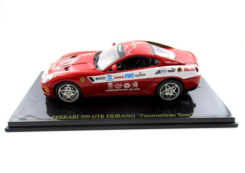 "FERRARI 599 GTB FIORANO "" PANAMERICAN TOUR "" + SHOWCASE, RED ALTAYA SCALE 1:43"