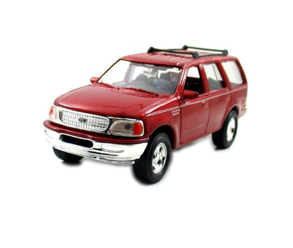 1998 FORD EXPEDITION METALLIC RED ,WELLY 1/32 DIECAST CAR COLLECTOR'S MODEL