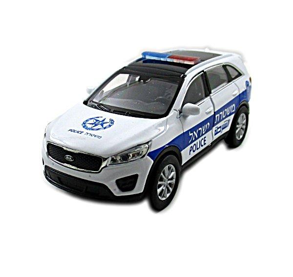 KIA SORENTO, ISRAELI POLICE CAR WELLY 1/38 DIECAST CAR COLLECTOR'S MODEL