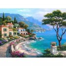 Villa on the shore DIY Acrylic Paint by Numbers kit