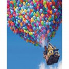 House with baloons DIY Acrylic Paint by Numbers kit