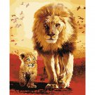African lions DIY Acrylic Paint by Numbers kit