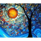 Tree abstract art DIY Acrylic Paint by Numbers kit