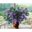 lilac in vase DIY Acrylic Paint by Numbers kit