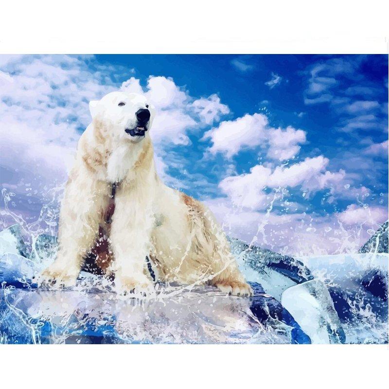 Polar bear DIY Acrylic Paint by Numbers kit