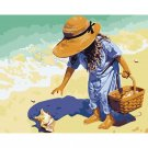Child on the beach DIY Acrylic Paint by Numbers kit