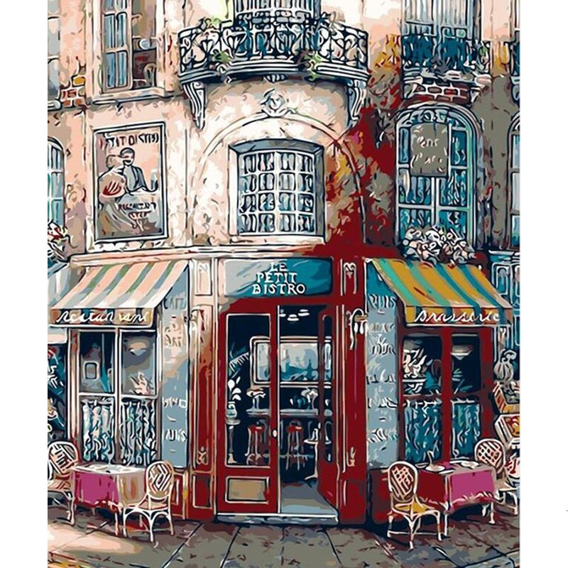 Cafe DIY Acrylic Paint by Numbers kit