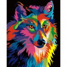Colorful wolf DIY Acrylic Paint by Numbers kit