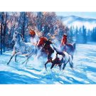 Horses in winter DIY Acrylic Paint by Numbers kit
