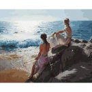 Ladies on the beach DIY Acrylic Paint by Numbers kit