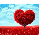 Heart tree DIY Acrylic Paint by Numbers kit