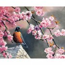 Bird on the tree DIY Acrylic Paint by Numbers kit