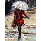 Girl in the rain DIY Acrylic Paint by Numbers kit