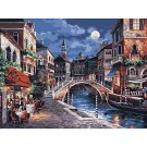 Night city DIY Acrylic Paint by Numbers kit