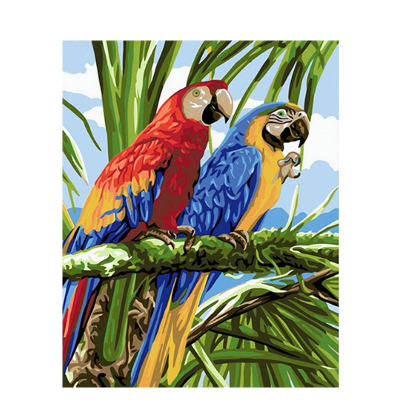 Parrot DIY Acrylic Paint by Numbers kit